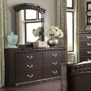 Signature Design by Ashley Vachel 6 Drawer Double Dresser with Mirror