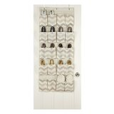 Textured Chevron 10 Pair Overdoor Shoe Organizer