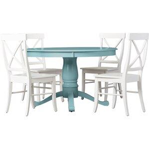 Stock Island 5 Piece Pedestal Dining Set
