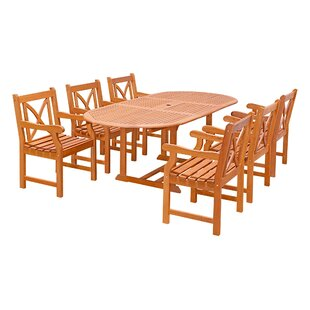 Vifah Patio 7 Piece Dining Set