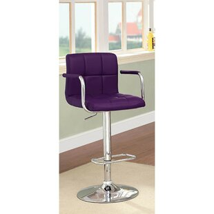 Mendon Adjustable Height Swivel Bar Stool by Orren Ellis Purchase