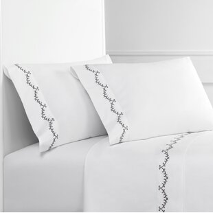 Brookins Embroidered 300 Thread Count Percale Sheet Set