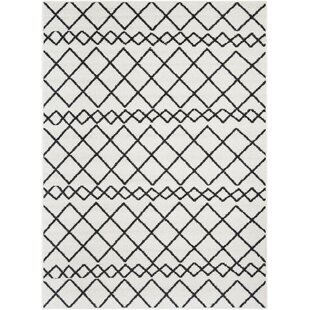 Buy Calzada Black/White Area Rug By Union Rustic