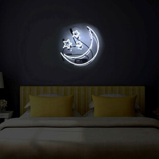 moon and stars neon sign - Neon Signs For Bedroom