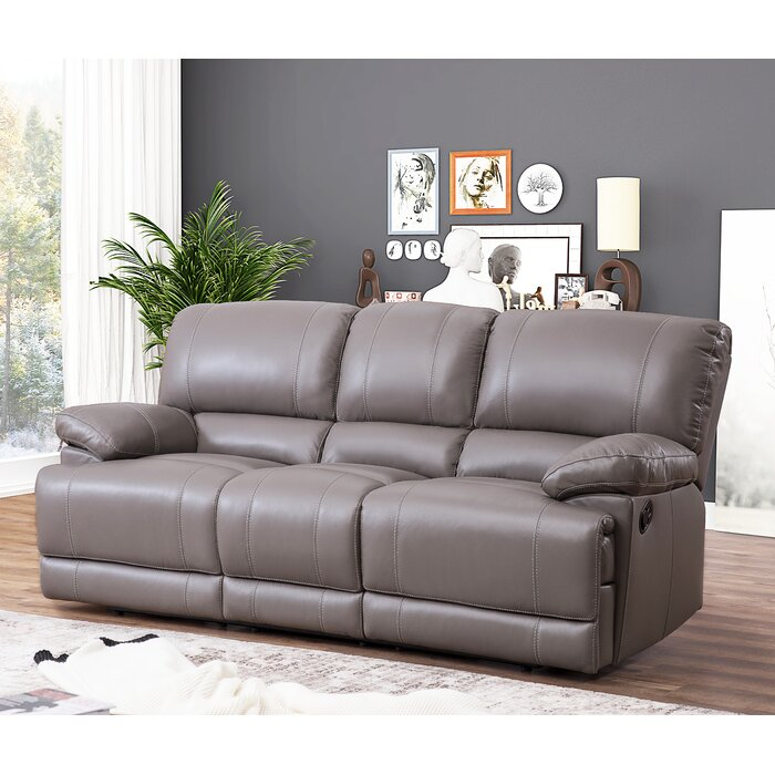 Loper Leather Reclining Sofa