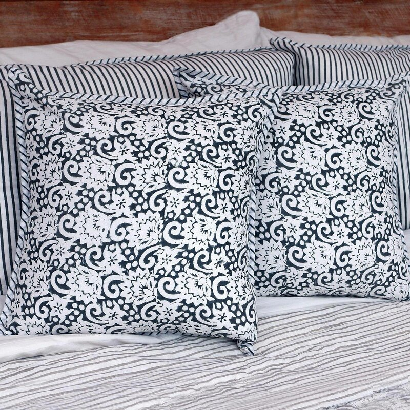 Charlton Home Tania Cotton Floral 16 Pillow Cover Wayfair