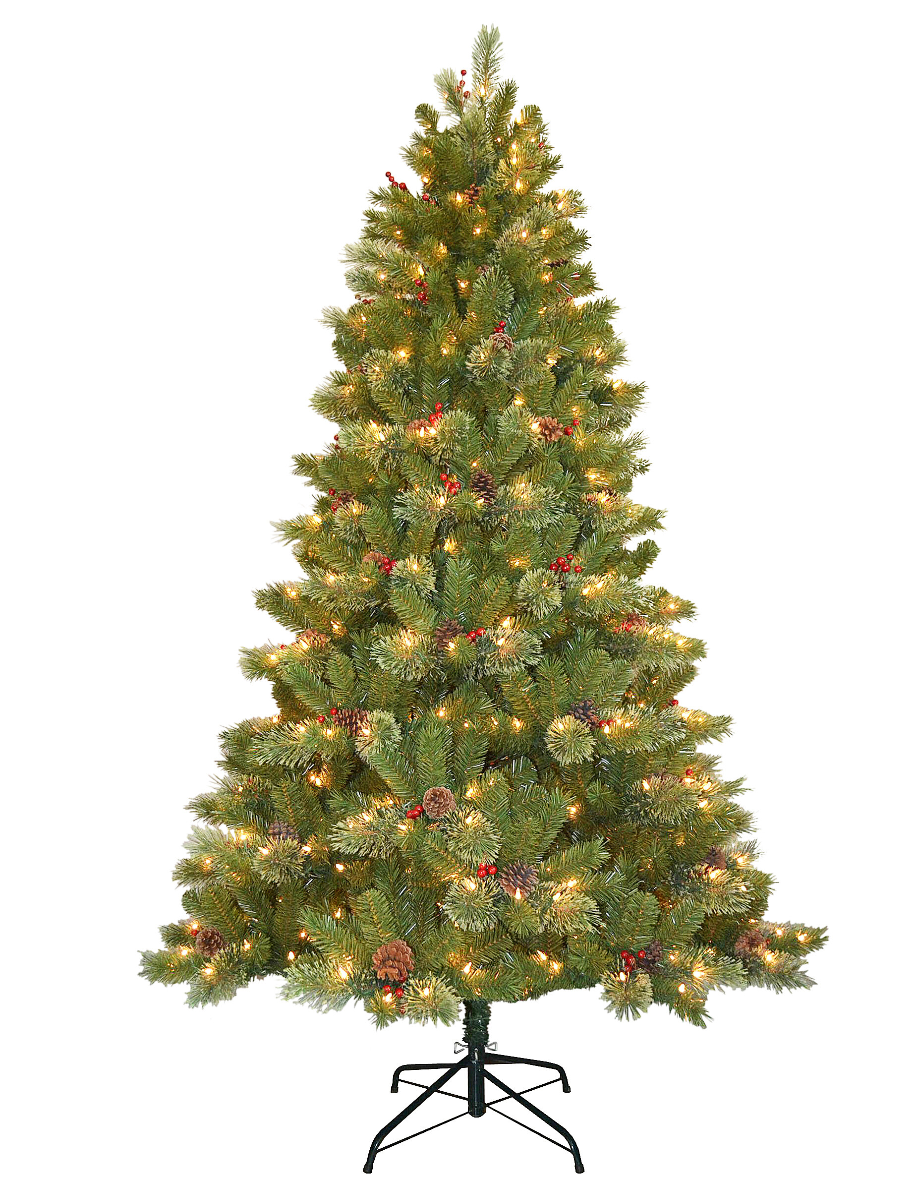 The Holiday Aisle Cashmere Cone And Berry Decorated 7 5 Green Fir Artificial Christmas Tree With 550 Clear Lights Reviews Wayfair