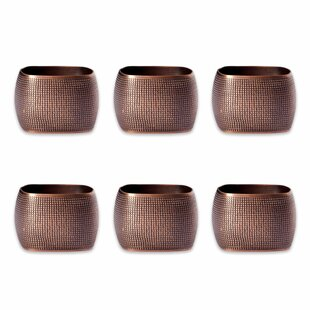 Textured Square Napkin Ring (Set of 6)