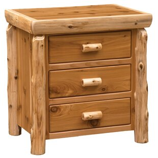 Cedar 3 Drawer Nightstand