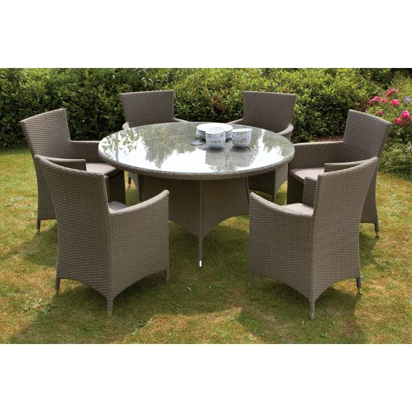 royal craft cannes 6 seater dining set with cushions reviews wayfaircouk
