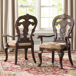Chalus Arm Chair (Set of 2) Astoria Grand