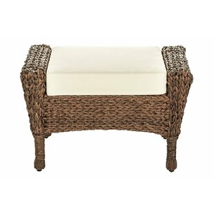 Oph?lie Outdoor Faux Sea Grass Garden Ottoman by One Allium Way