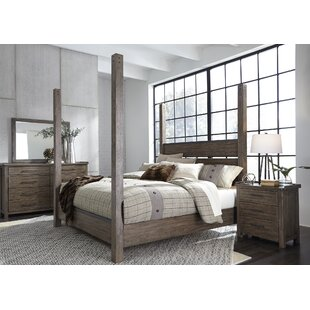 Claybrooks Four Poster Panel Configurable Bedroom Set by Gracie Oaks