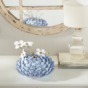 Domitalia Light Blue Ceramic Table Vase