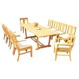 Kevon 11 Piece Teak Dining Set
