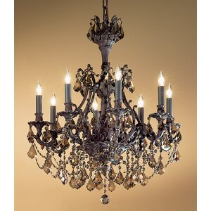 Majestic Imperial 8-Light Crystal Chandelier