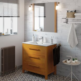 Nakagawa Solid Pine 800mm Free-standing Vanity Unit By 17 Stories