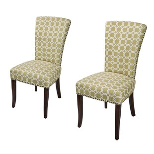 Miriam Floral Upholstered Dining Chair with Birch Legs (Set of 2) by Darby Home Co