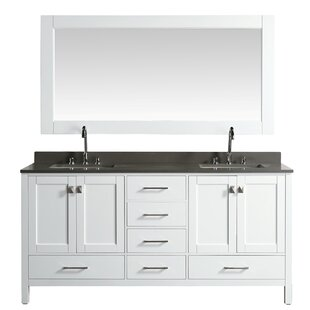 London Hyde 72 Double Bathroom Vanity Set with Mirror by dCOR design