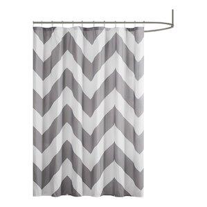 black and white chevron shower curtain. Electra Shower Curtain  Gray Black Teal Chevron Curtains You ll Love Wayfair