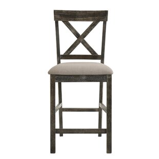 Dileo Wooden Counter Height Bar Stool (Set of 2)