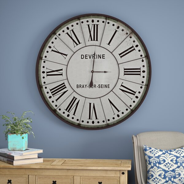August Grove White Oversized 48 Wall Clock Reviews Wayfair