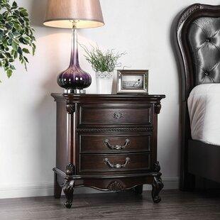 Astoria Grand Steinbach 3 Drawer Nightstand
