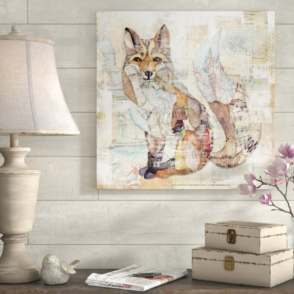 choose your size. The Fox Home Decor Canvas Print
