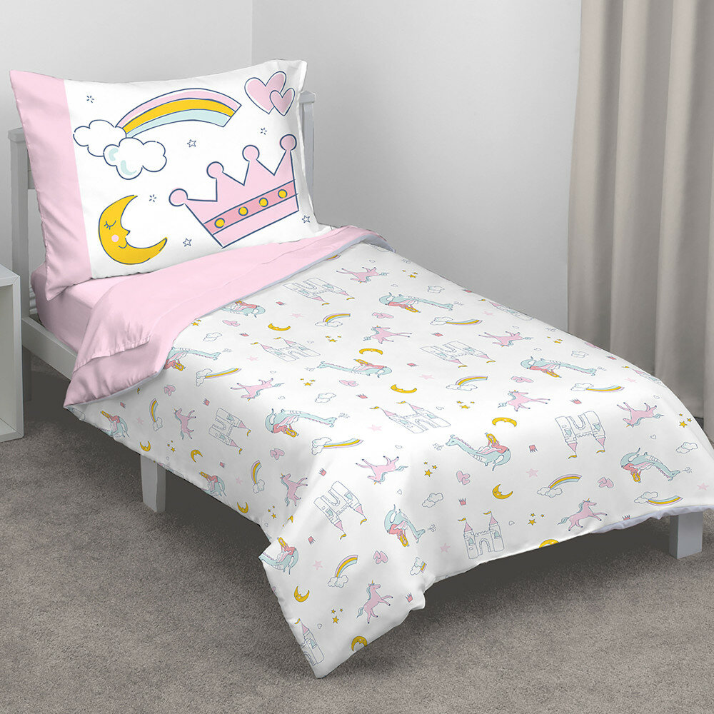 Whimsical Princess Tales 4 Piece Toddler Bedding Set