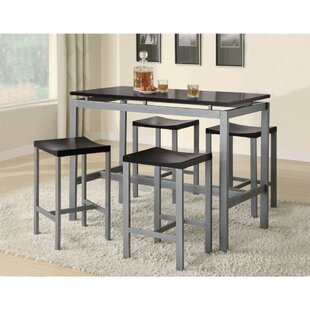 Burwinkel 5 Piece Counter Height Dining Set Ebern Designs