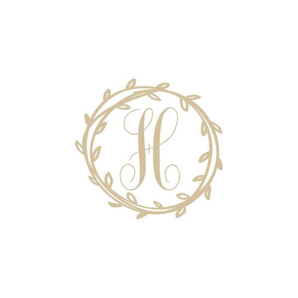 Lace Circle Monogram Vinyl Decal-Style 04
