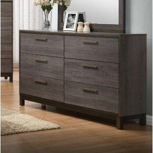 Union Rustic Lehner 6 Drawer Double Dresser