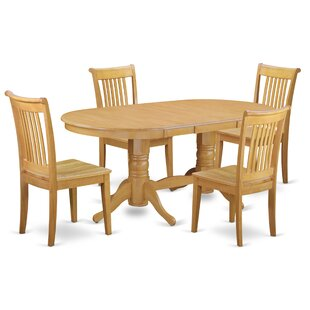 Daniella 5 Piece Extendable Solid Wood Di..
