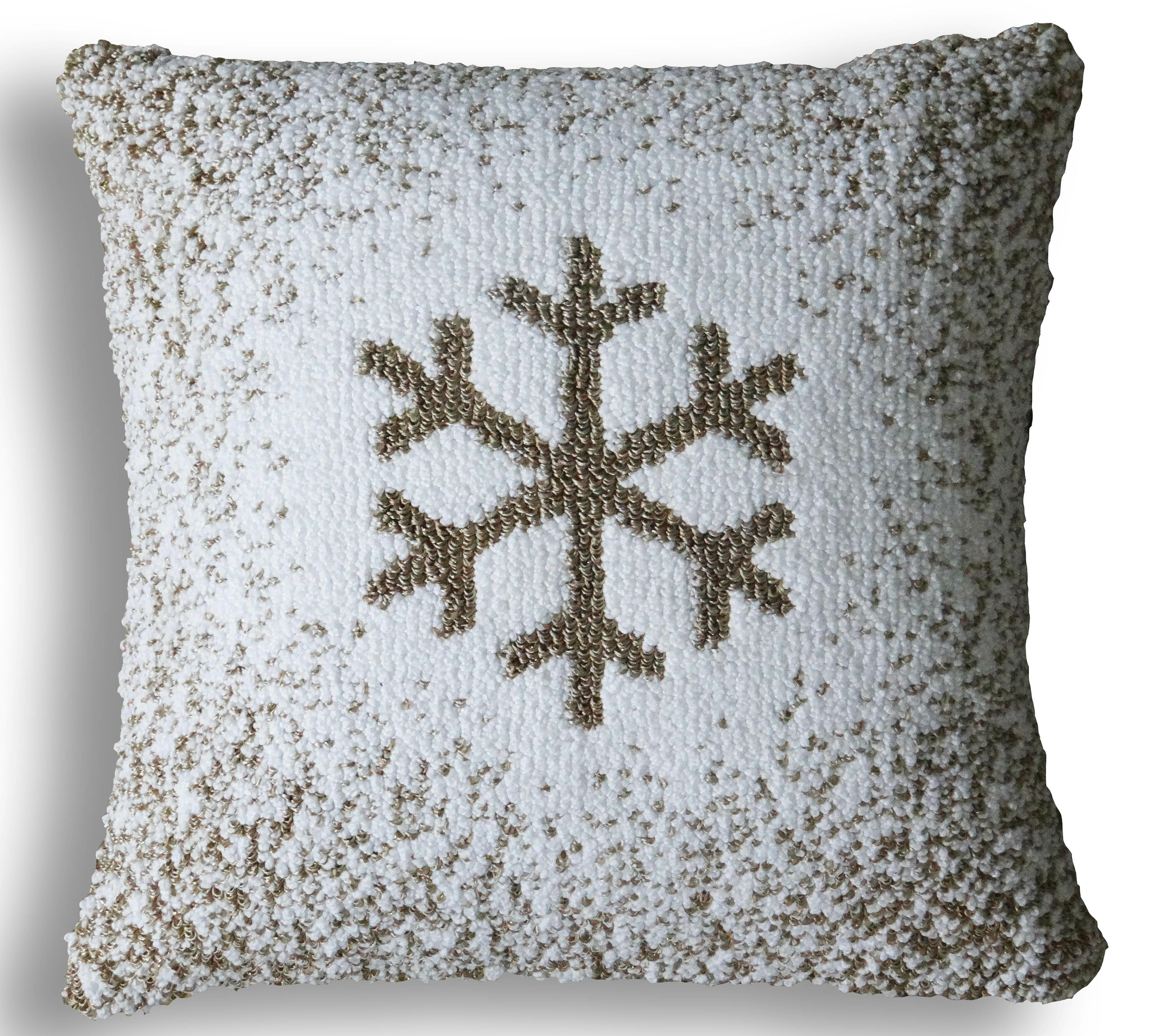 The Holiday Aisle Munoz Snowflake Pillow Cover Reviews Wayfair