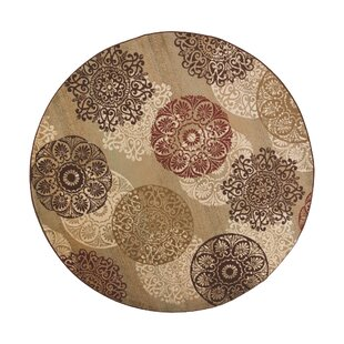 Ansley Beige/Brown/Red Area Rug by Andover Mills
