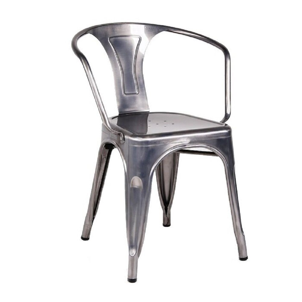 Williston Forge Gurrola Metal Slat Back Side Chair In Brown Wayfair