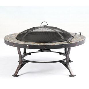 Baner Garden Steel Wood Burning Fire Pit Table