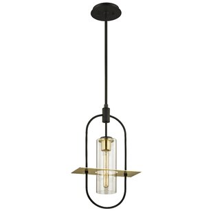Best Reviews Hathcock 1-Light Pendant By Williston Forge