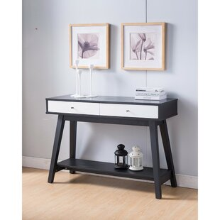 Orren Ellis Shah Embellishing Monochrome Style Sofa Console Table