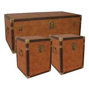 Basil 3 Piece Lift Top Coffee Table & Trunk Set