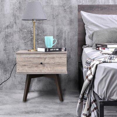 Nachttisch Long Eaton | Schlafzimmer > Nachttische | Weiß | Melamin | Metro Lane