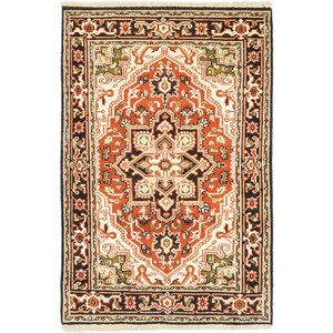 Carmen Hand-Knotted Beige Area Rug