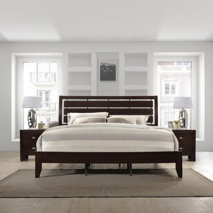 Willenhall Wood Panel Bed by Ebern Designs