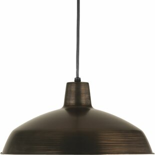 Gracie Oaks Patrik 1-Light Dome Pendant