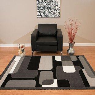 Best Reviews Eloise Gray/Black Area Rug ByEbern Designs