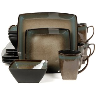 Tequesta 16 Piece Dinnerware Set Service for 4  sc 1 st  Wayfair & Square Dinnerware Sets Youu0027ll Love | Wayfair