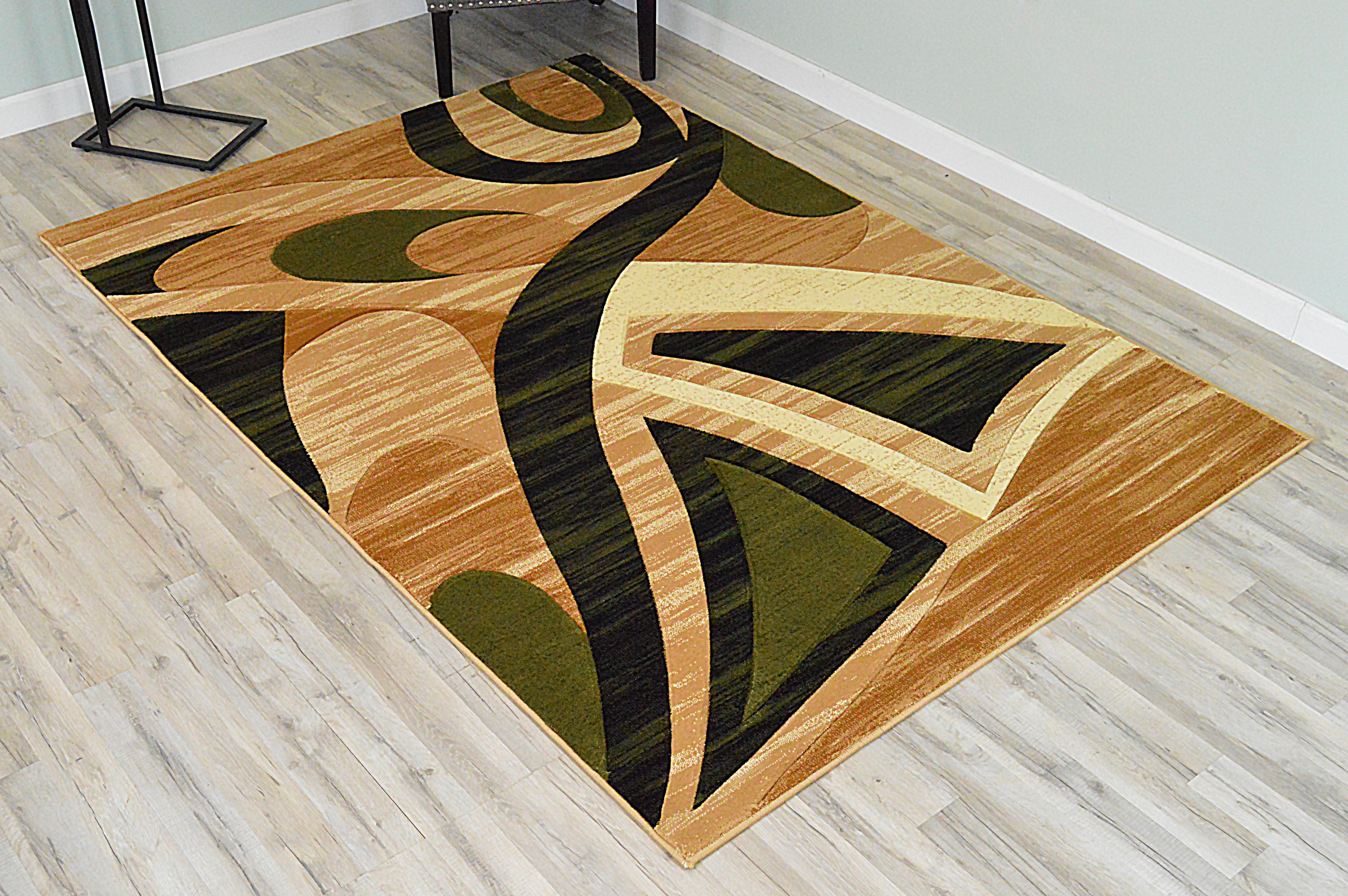 Orren Ellis Ilkley 3d Effect Thick Modern Contemporary Abstract Green Area Rug Wayfair