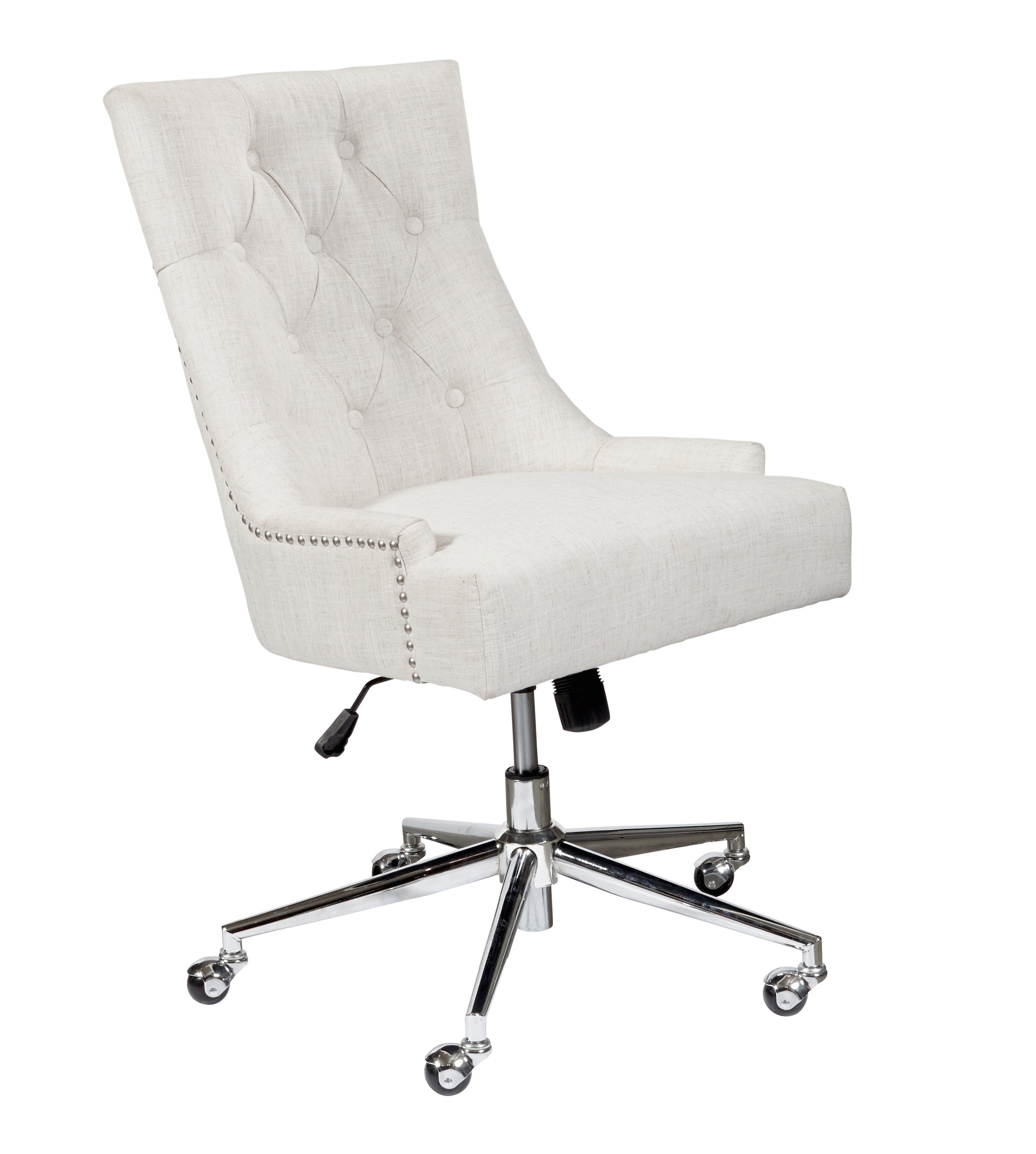 Alcott Hill Maliah Button Tufted Task Chair Reviews Wayfair