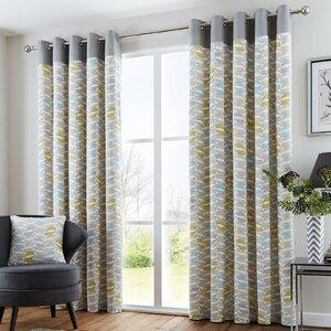 Lora Eyelet Curtains Set Of 2