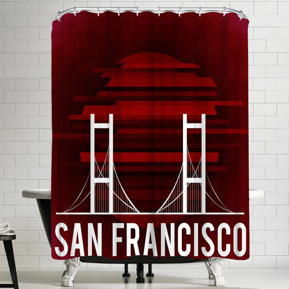 East Urban Home Wonderful Dream San Francisco Us Single Shower Curtain Wayfair